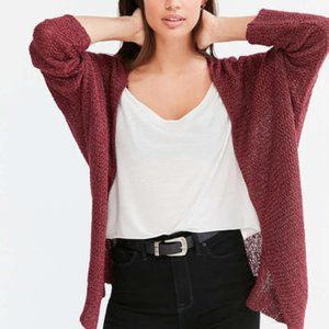 Silence + Noise UO Chunky Red Cardigan Size Small
